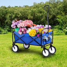 Utility Collapsible Folding Wagon Cart Garden Beach Buggy Shopping Camp Outdoor