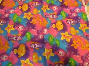 Vintage  Fabric FISH bubble fish Donna Dewberry Fabric 2 Yards
