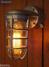 Vintage Industrial Explosion Proof Wall Lamp Sconce Steampunk Light Stock Grey