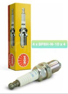 NGK BP8H-N-10 x 4 V Groove Spark Plugs   - 4 Pack - Set of 4 Plugs
