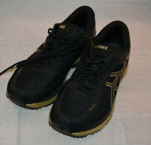 Asics Men's Size 10 T641N Metarun Black / Onyx / Gold No Box Running Shoes