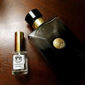 15ml HALF OUNCE! SAMPLE ONLY! Versace Oud Noir Travel Spray