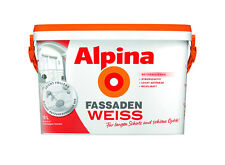Alpina Wandfarbe Fassaden Weiss Wetterbeständig Fassadenfarbe Außen Weiß