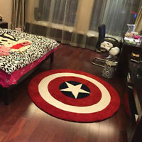 Avengers Captain America Living Door-Mats Round Floor Rug Bath Bedroom Mat Cool