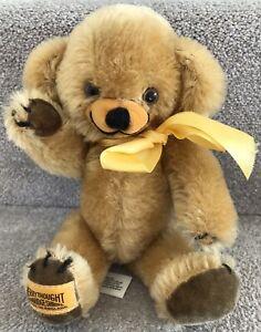 "Vintage Merrythought Mohair Cheeky Teddy Bear w/ Bells & Original Labels 9"""