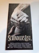 Schindler List original premiere screening ticket invite Spielberg
