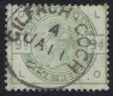 1883 SG 195 9d  Dull Green LO SIDEWAYS INVERTED WATERMARK Cat. £750.00