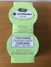 LE CREUSET  Grey French Ramekins - Set of 2 NEW
