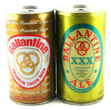 Qty. 2 - Ballantine Ale Lager Beer Can Steel Top Opened Pre-owned Free Shipping