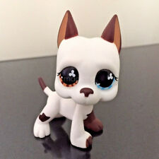 Littlest Pet Shop Collection LPS #577 White Brown Great Dane Dog Toys