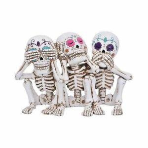 Three Wise Calaveras Skeleton Figurine 20.3cm Nemesis Now Day of the Dead Statue