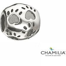 Autentico Chamilia argento CHAM 925 ZAMPE STAMPA Bracciale Charm Bead GA-37