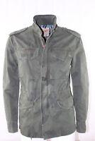 Giubbino Uomo BOB Company Militare Verde Cotone Cerniera Tasche Camouflage