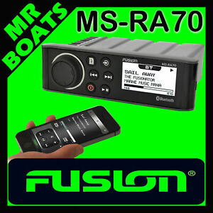 FUSION MS-RA70 MARINE BLUETOOTH STEREO IPOD MP3 AM FM AUX 50W RA70 FREE POSTAGE