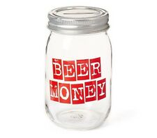 BEER MONEY Mason Jar Bank- Fun Gift Idea! NWT