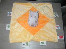doudou hippopotame gris orange palmier arbre influx état neuf