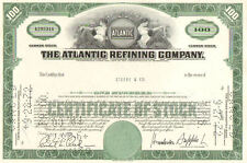 Atlantic Refining Company   1960s Pennsylvania stock certificate 100 shares