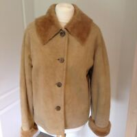 Ladies Genuine Sheepskin Coat/Jacket,FIRENZE MODELLO VERA PELLE Designer, 12/14