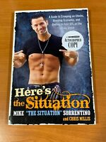 Mike The Situation Sorrentino Signed Copy Heres The Situation Book Jersey Shore