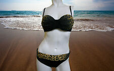 NWT GOTTEX Animal Print Bikini SWIMSUIT BATHING SUIT SET sz - 6