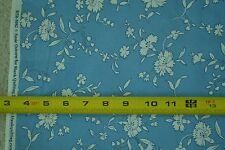 "By-the-Half-Yard, 43"", White on Med-Blue Quilter's Cotton, Blank Quilting, M5316"