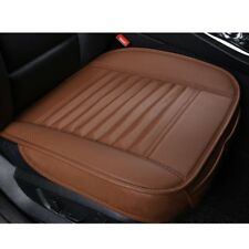 Brown 3D Universal Bamboo Charcoal Cushion Seat Pad PU Leather Car Seat Covers