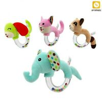 Hand Bells Plush Baby Toy Rattle Toys Animals High Quality Newborn Design Toys