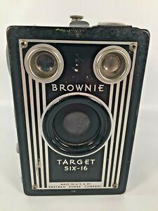 Vintage Brownie Target Six-16 Eastman Kodak USA Circa 1940's 1950's Box Camera