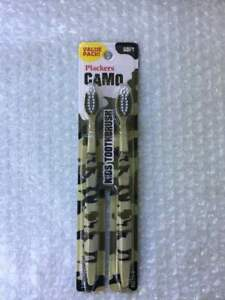 Plackers Camo 2-Pack Soft Toothbrushes For Kids Value Pack