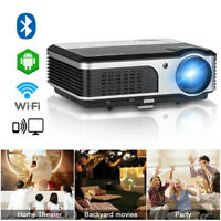 HD Smart Heimkino Beamer Android WIFI Projektor Blue-tooth Wireless HDMI USB LED