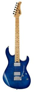 Cort G290 FAT Bright Blue Brst Swamp Ash Bdy BE Mpl Neck