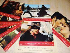 LE MASQUE DE ZORRO ! a banderas c zeta-jones jeu 8 photos cinema lobby cards
