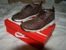 NIKE AIR Footscape Desert Chukka Barkroot Brown Trainers Woven Leather, Maroon 9