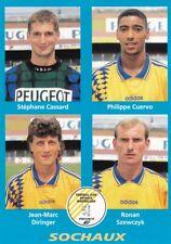 n°420 VIGNETTE PANINI CHAMPIONNAT DE FRANCE 1996 4 joueurs SOCHAUX