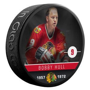 Bobby Hull Chicago Blackhawks NHL Alumni Photo Hockey Puck