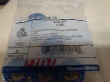 Cone Nut Nylon Gold/galv 3/8in  ZCM1003/8/-10  pk 5 INV.181181