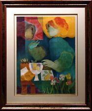 "Sunol Alvar ""Dialeg Sobre Taula"" Hand Signed w/Custom frame Make Offer"