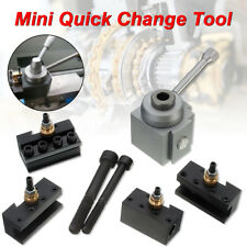 Mini Quick Change Tool Post Holder Kit Set for 7 x10, 12, 14 Lathe Tool Holder