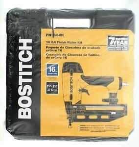 Bostitch 16GA Pneumatic Finish Nailer Kit Oil Free Nail Gun Tool Case FN1664K