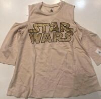 New Disney Parks Gold Star Wars Long Sleeve Tee Shirt Large