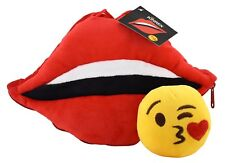KINREX Lips Pillow with Blow Kiss Emoji Inside - Birthday Gifts - Red - 11.81...