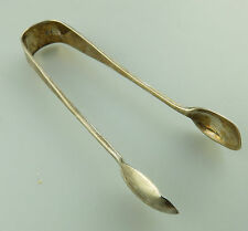 Rat Tail Cutlery - Antique Solid Silver : Sugar Tongs English assay C.1890
