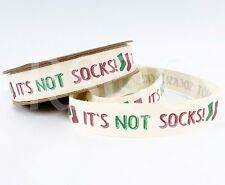 It's Not Socks Novelty Christmas 5m Cotton Ribbon Crafts Label Trim Gift Present