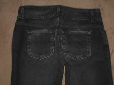 Express Size 6R Seffaro Dark Black Flare Stretch Denim Womens Jeans