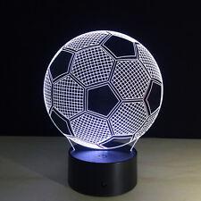 Night Light Lamp Acrylic Soccer Football Christmas Home Decoration Gift Colorful