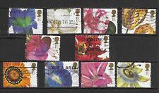 GB 1997 Greetings Stamps. 19th Century Flower Paintings used (47)