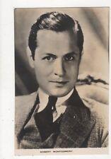 Robert Montgomery Vintage Plain Back Photo Card Actor 571a
