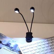 4 LED Leselampe Leuchte Klemmlampe Buch Lampe Licht Für Notenständer Klavier PP