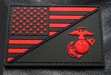 Usa Marine Corps Ega / Usa Flag Tactical Marine Patch (HOOK-3D PVC Rubber-PVM3)