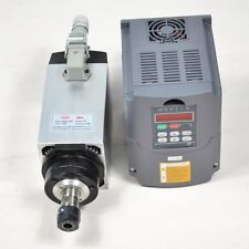 4 Bearing 4KW ER20 Air-cooled Spindle Motor and 4KW Inverter Drive VFD for CNC